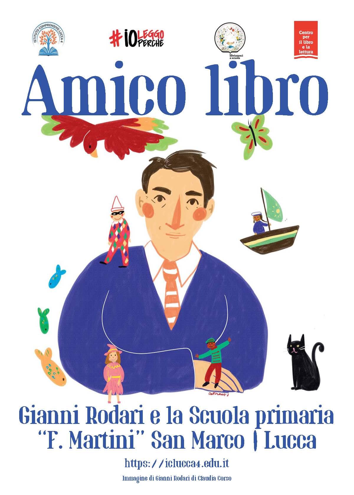 """Amico Libro: il progetto letterario dedicato a Gianni Rodari alla scuola primaria """"F. Martini"""" a San Marco"""